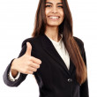 Arab businesswoman with thumbs up — Stock Photo #26659029