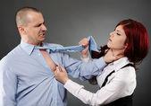 Violent argument between colleagues — Stock Photo