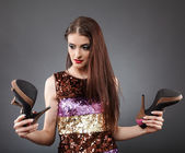 Buying shoes — Stock Photo