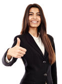Arab businesswoman with thumbs up — Stock Photo