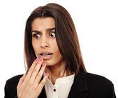 Arab businesswoman shocked — Stock Photo