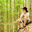 Teenager in the forest — Stock Photo #26660187