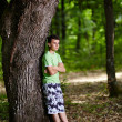Teenager in the forest — Foto Stock