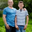 Father and son outdoors — Stock Photo #30058213