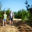 Father and son trekking — Stock Photo #30058319