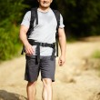 Man with backpack — Stock Photo