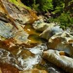 The Apa Spanzurata waterfall in the Latoritei gorge — Stock Photo