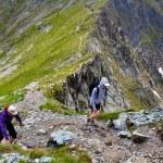 Hikers on mountain — Stock Photo #30059141