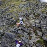 Hikers on mountain — Stock Photo #30059225