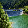 Dam on the Galbenu lake — Stock Photo