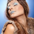 Beautiful woman as Ice Queen — Stock Photo