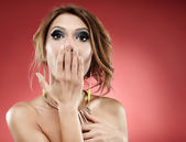 Sensual woman blowing a kiss — Stock Photo