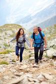 Para na szlak górski — Zdjęcie stockowe