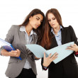 Businesswomen looking to documents — Stock Photo