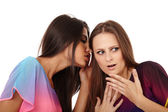 Girlfriends gossiping — Stock Photo