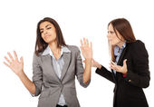 Businesswomen having an argument — Stock Photo