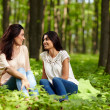 Mother and daughter at a picnic — Stock Photo
