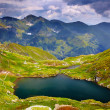 Lake Capra from Fagaras mountains — Stock Photo