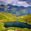 Stock Photo: Lake Caprfrom Fagaras mountains