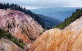 Ruginoasa Pit from Apuseni mountains — Stock Photo