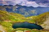 Lake Capra from Fagaras mountains — Stock Photo