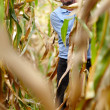 Farmer at corn harvest — Stock Photo #33713991