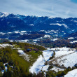 Carpathians panoramic view — Stock Photo