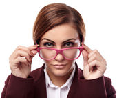 Serious teacher with glasses — Stock Photo