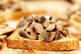 Mushroom bruschetta — Stock Photo