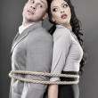 Couple tied with a rope — Stock Photo #38045149
