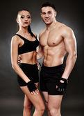 Jeune couple athlétique Sportswear — Photo