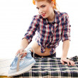 Sexy housewife ironing — Stock Photo #38121425