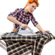Sexy housewife ironing — Stock Photo #38121429