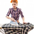 Sexy housewife ironing — Stock Photo #38121437