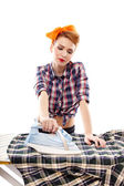 Sexy housewife ironing — Foto de Stock