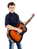 Teenager playing guitar — Stock Photo