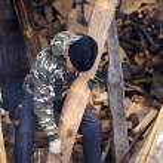 viejo carpintero — Foto de Stock