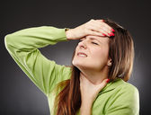 Throat pain and flu — Stock Photo