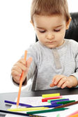 Toddler drawing — Stock Photo