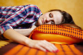 Young lady sleeping — Fotografia Stock
