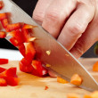 Stock Photo: Man chopping vegetables