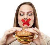 You may not eat junk food! — Stock Photo