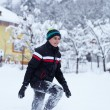 Stock Photo: Happy teenager in snow
