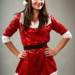 Beautiful Santa young woman — Stock Photo #4068267
