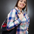 Stock Photo: Casual womholding bag