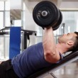 Chest workout on bench press — Stock Photo #45031723