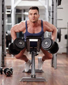 Back muscles workout — Stock Photo
