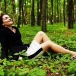 Happy careless businesswoman outdoor — Stock Photo #47178413