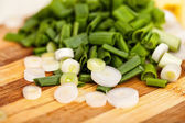 Chopped spring onions — Stock Photo