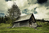 Old barn and moody sky — Stock Photo